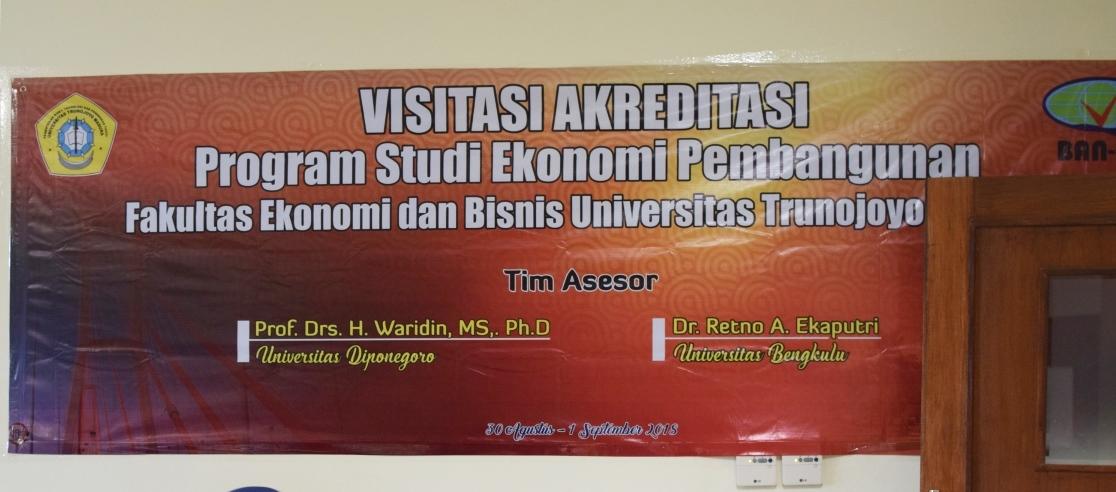 Visitasi Akreditasi Program Studi Ekonomi Pembangunan 2018